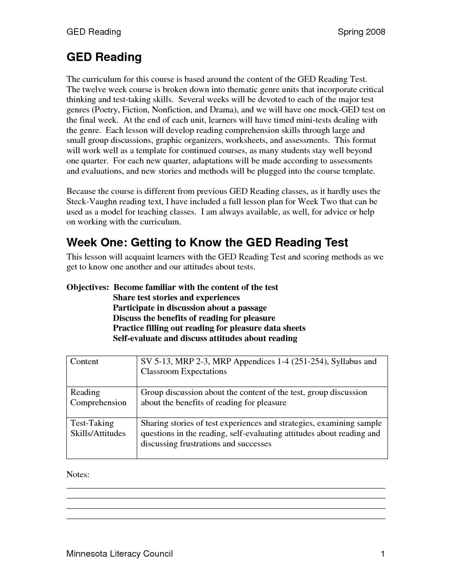 007 Ged Essay Samples Example Practice Test Printable Worksheets | Ged Social Studies Printable Worksheets