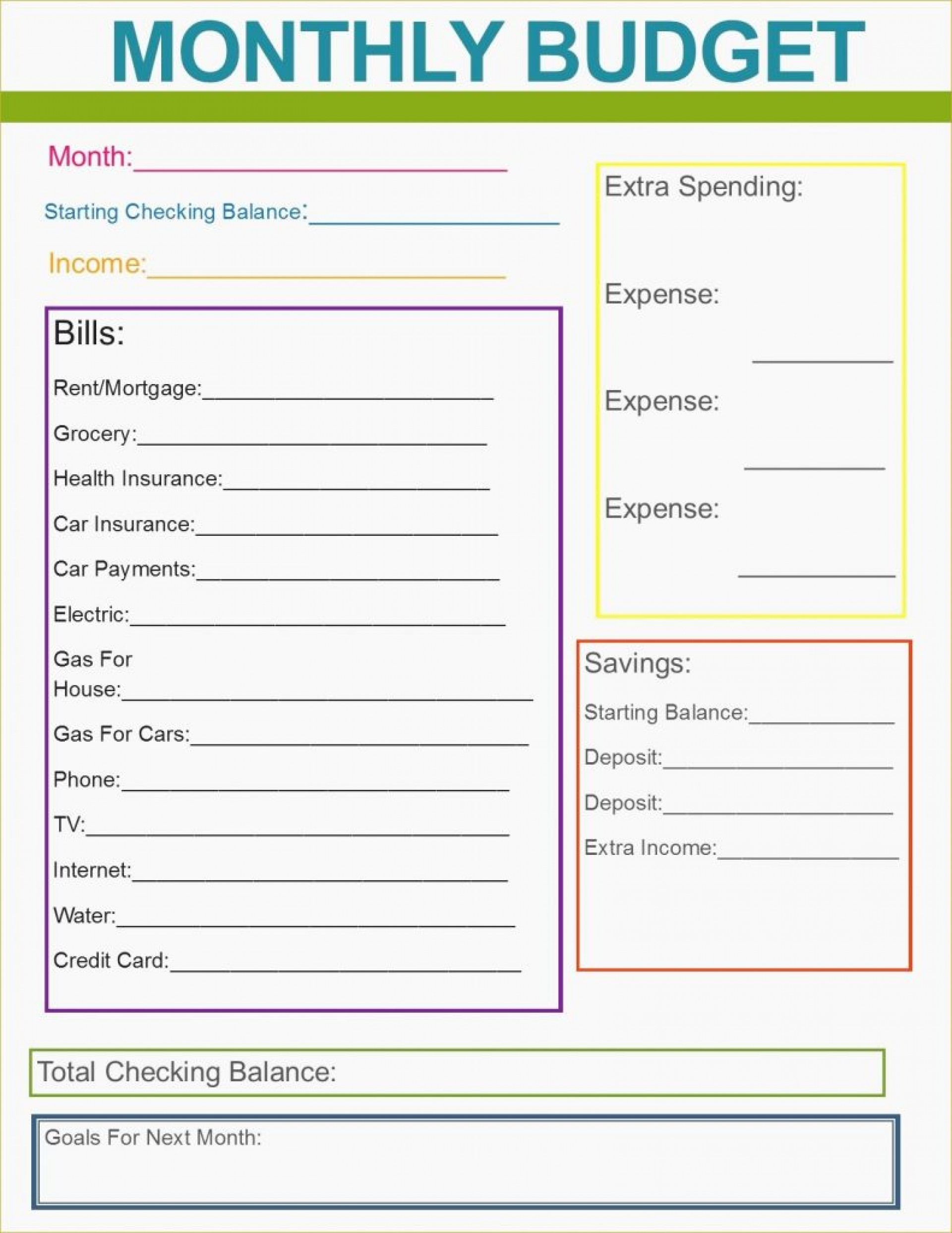 019 Free Printable Budget Templates Template Staggering Ideas Excel | Printable Budget Worksheet Dave Ramsey