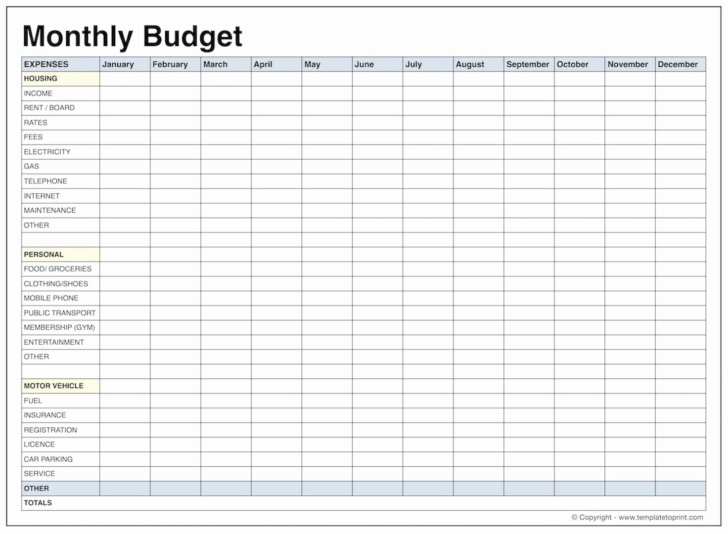 021 Free Printable Monthly Budget Worksheets Online Template And | Free Printable Home Budget Worksheet