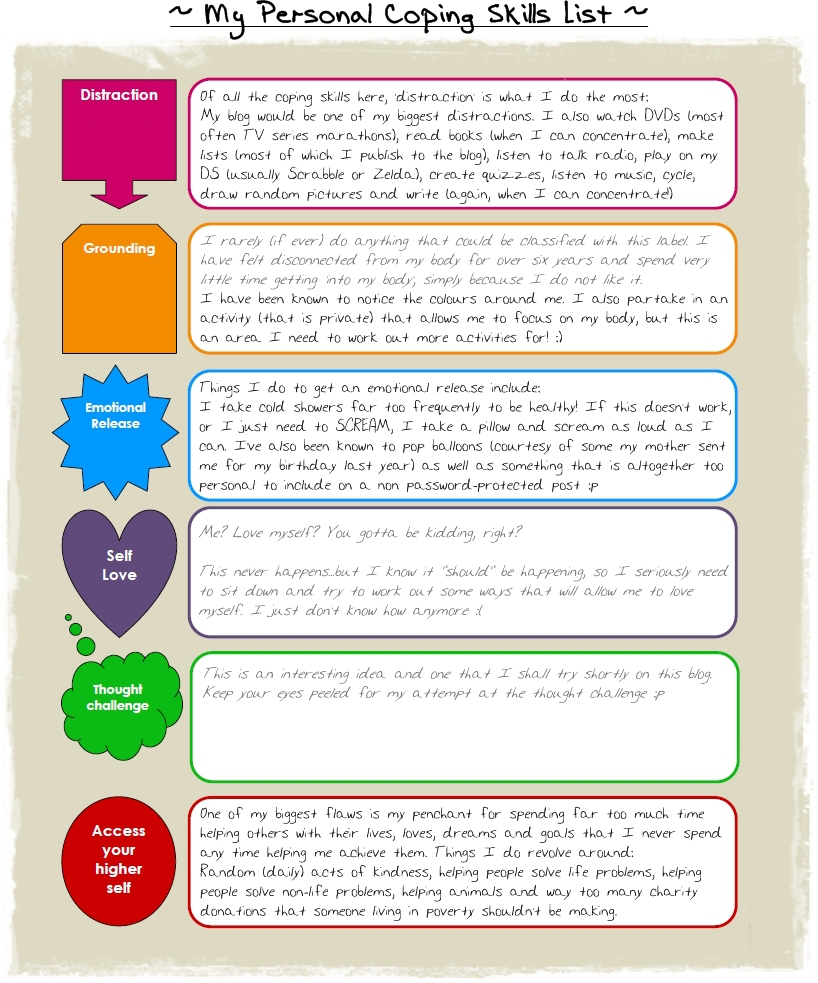 10+ Coping Skills Worksheets For Adults And Youth (+ Pdfs) | Free Printable Coping Skills Worksheets For Adults