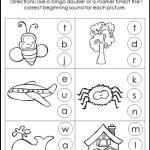 10 Printable Beginning Sounds Worksheets. Preschool 1St Grade | Etsy | Printable Beginning Sounds Worksheets