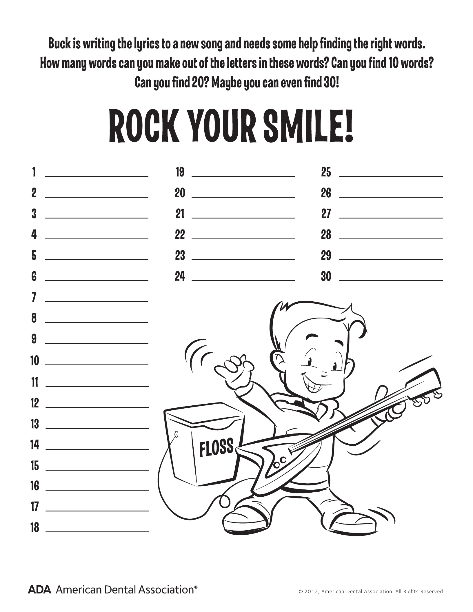 11 Dental Health Activities – Puzzle Fun (Printable) | Personal Hygiene | Dental Hygiene Printable Worksheets