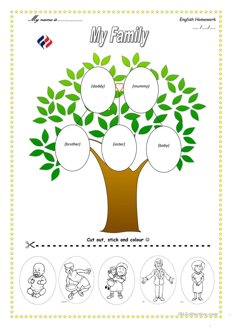 113 Free Esl Family Tree Worksheets - My Family Tree Free Printable | My Family Tree Free Printable Worksheets