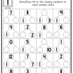 12 Printable Multiplication Number Bonds Worksheets. Numbers 1 12. 1St 4Th  Grade Math. | Printable Number Bond Worksheets