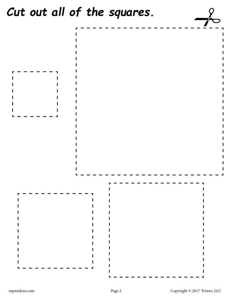 12 Printable Shapes Cutting Worksheets | Shapes Worksheets, Coloring | Free Printable Cutting Worksheets For Kindergarten