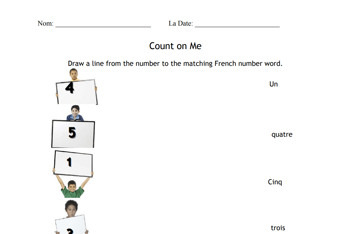 17 Free French Worksheets To Test Your Knowledge | Free Printable French Worksheets For Grade 1