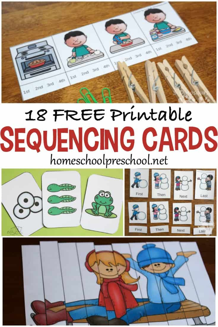 18 Free Printable Sequencing Cards For Preschoolers - Free Printable | Free Printable Sequencing Worksheets For Kindergarten