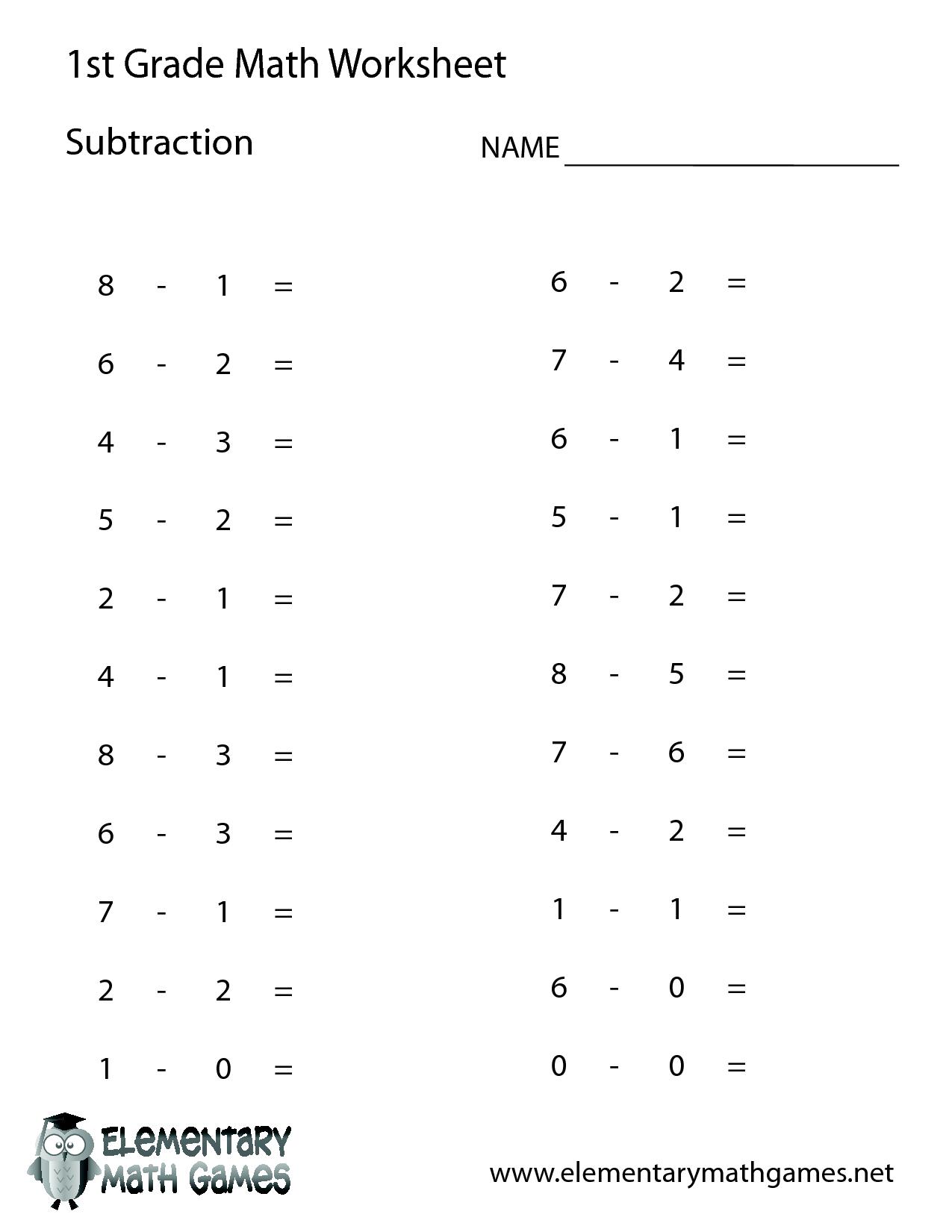1St Grade Math Worksheets | 1St Grade Math | 1St Grade Math | Free Printable Addition Worksheets For 1St Grade