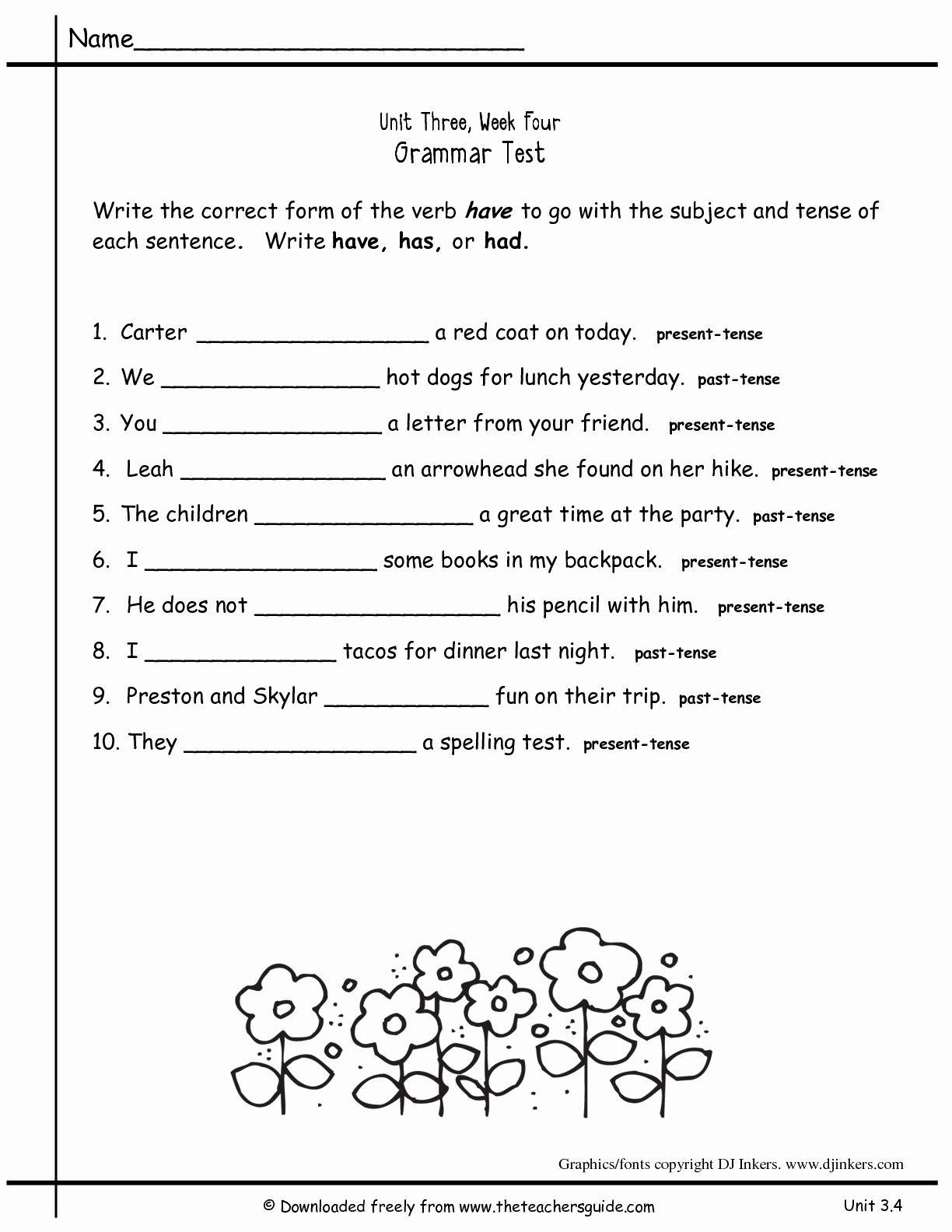 2Nd Grade Grammar Worksheets Pdf New Worksheets For All Download And   2Nd Grade Grammar Printable Worksheets