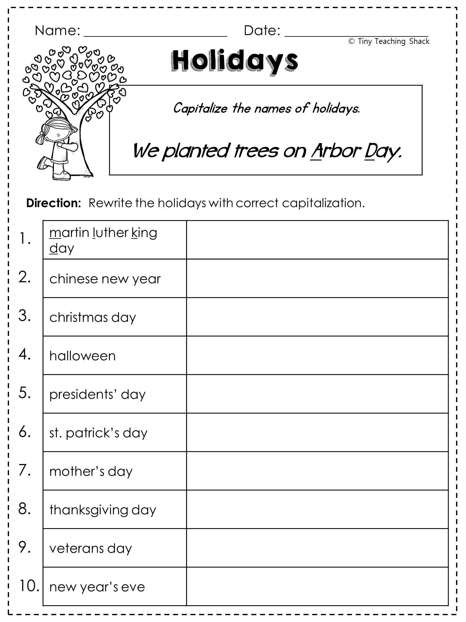 2Nd Grade Language Arts And Grammar Practice Sheets Freebie (Common | 2Nd Grade Language Arts Worksheets Free Printables