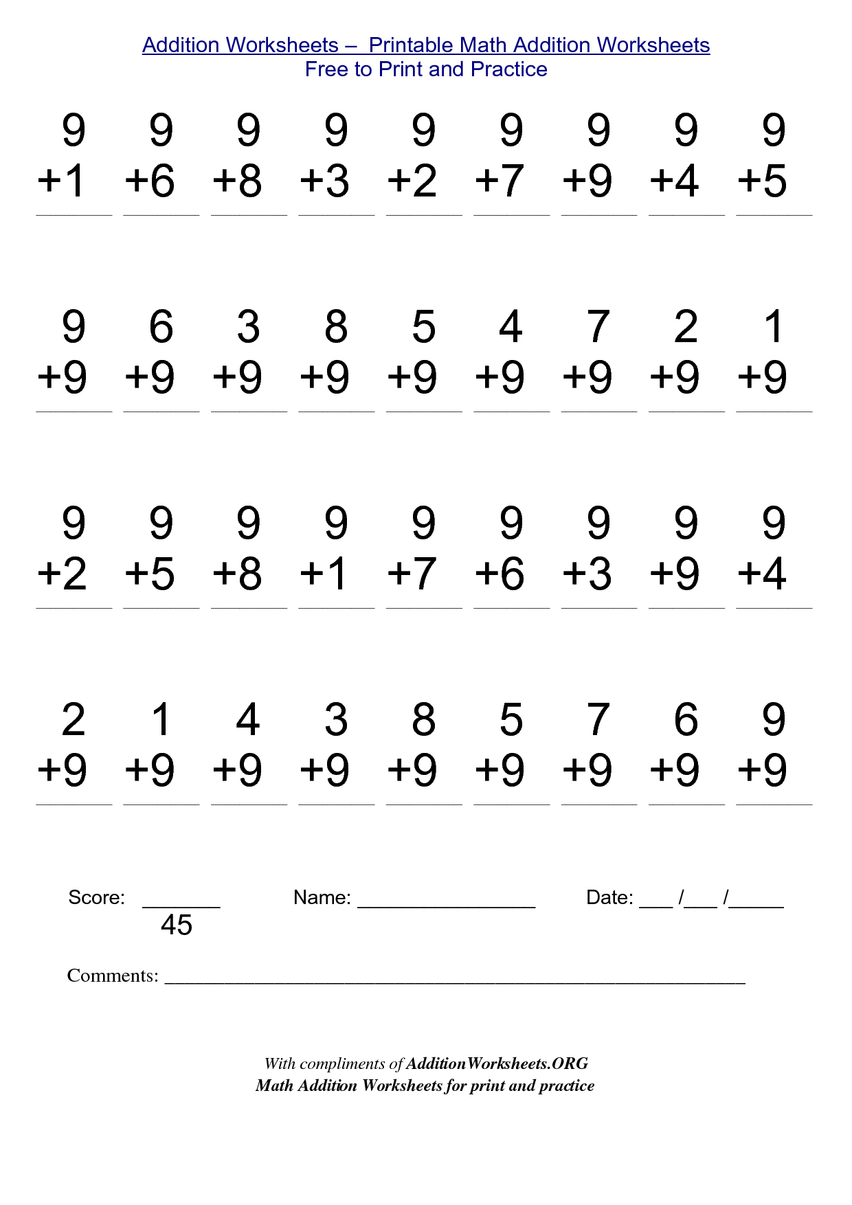 2Nd Grade Stuff To Print | Addition Worksheets - Printable Math | Free Printable Worksheets For Math 2Nd Grade