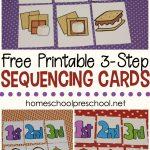 3 Step Sequencing Cards Free Printables For Preschoolers | Free Printable Sequencing Worksheets For Kindergarten