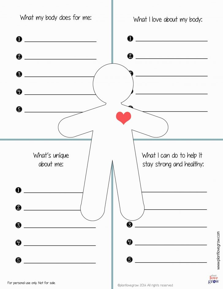 Self Esteem Building Worksheets Printable