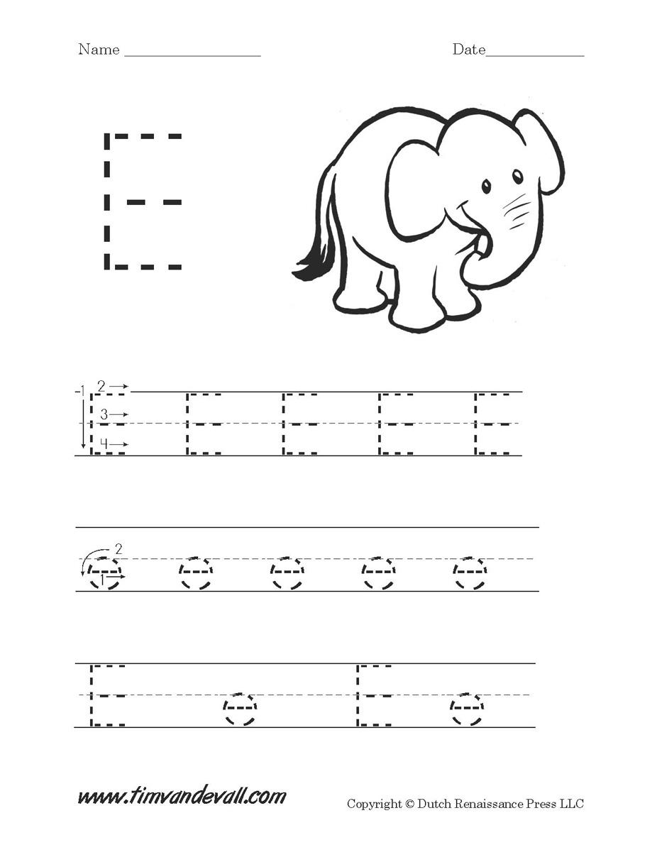 32 Fun Letter E Worksheets | Kittybabylove | Letter E Printable Worksheets