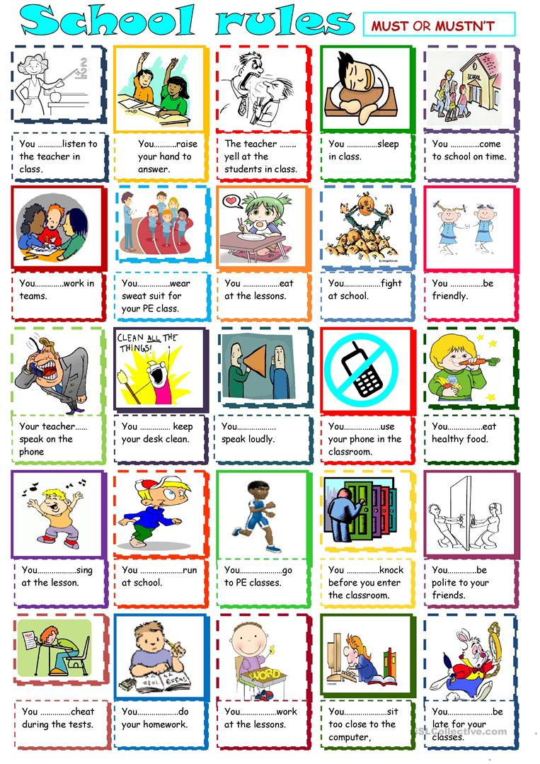 36 Free Esl Classroom Rules Worksheets | Free Printable Classroom Rules Worksheets