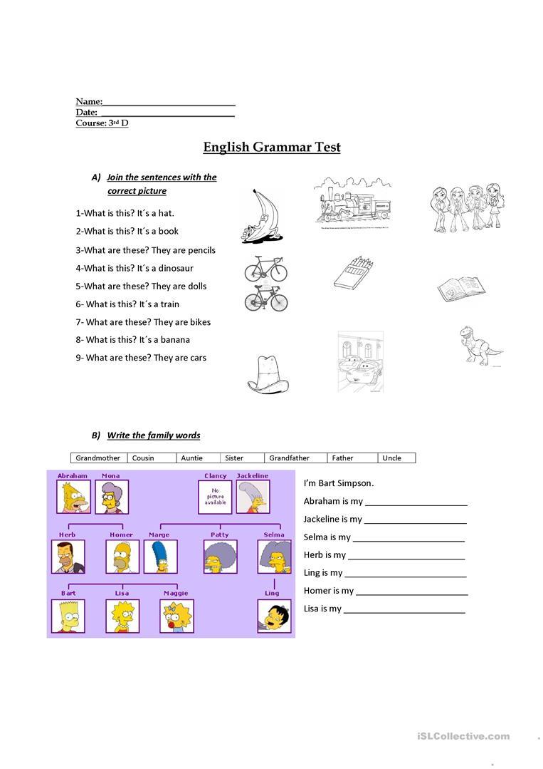 3Rd Grade Evaluation Worksheet - Free Esl Printable Worksheets Made | Free Printable English Worksheets For 3Rd Grade