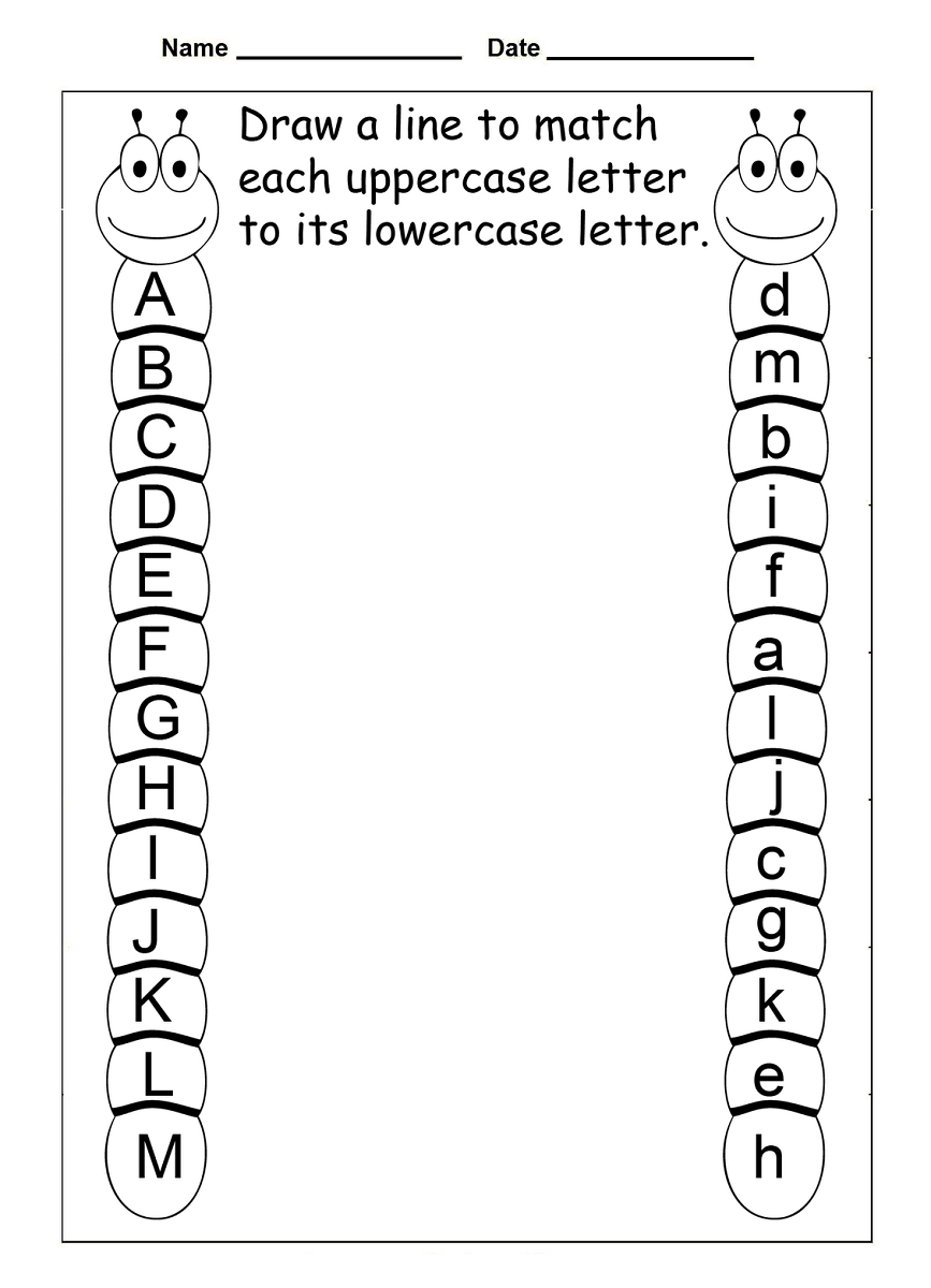 4 Year Old Worksheets Printable | Kids Worksheets Printable | Free Printable Alphabet Worksheets For Grade 1