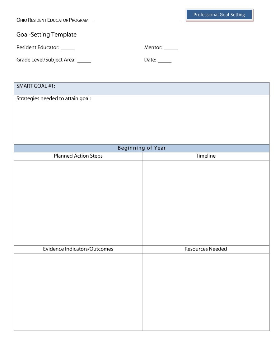 48 Smart Goals Templates, Examples & Worksheets ᐅ Template Lab   Printable Goal Setting Worksheet For High School Students