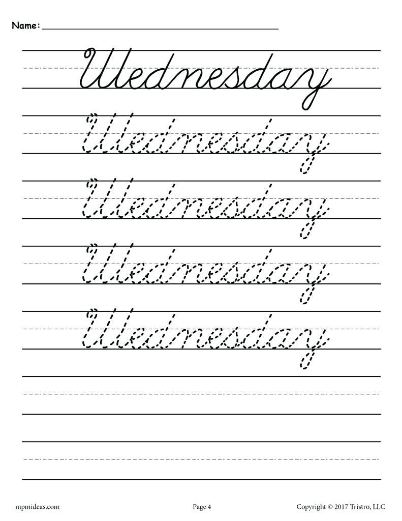 4Th Grade Cursive Writing Worksheets – Shoppingfoorme.club | Free Printable Cursive Writing Worksheets For 4Th Grade