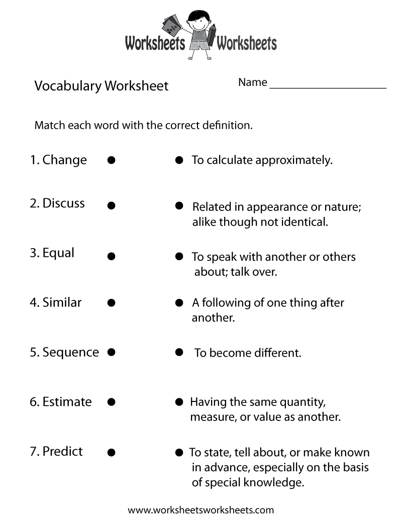 4Th Grade English Worksheets | Two Ways To Print This Free | Grade 3 Vocabulary Worksheets Printable