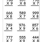 4Th Grade Multiplication Worksheets   Best Coloring Pages For Kids | 4Th Grade Printable Multiplication Worksheets