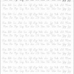 5 Printable Cursive Handwriting Worksheets For Beautiful Penmanship | Free Printable Cursive Handwriting Worksheets