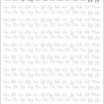 5 Printable Cursive Handwriting Worksheets For Beautiful Penmanship | Printable Penmanship Worksheets