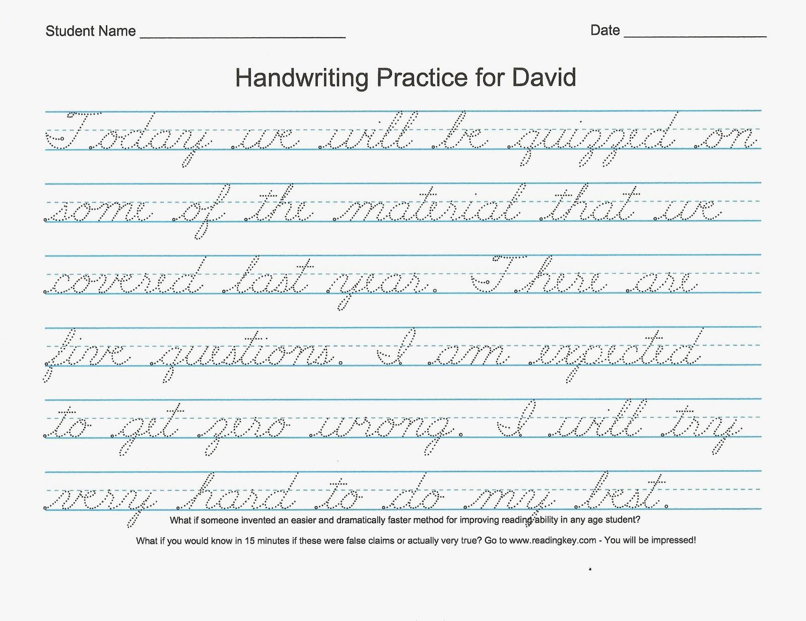 54 Unique Of Free Printable Cursive Handwriting Worksheets Pic | Free Printable Cursive Writing Worksheets For 4Th Grade