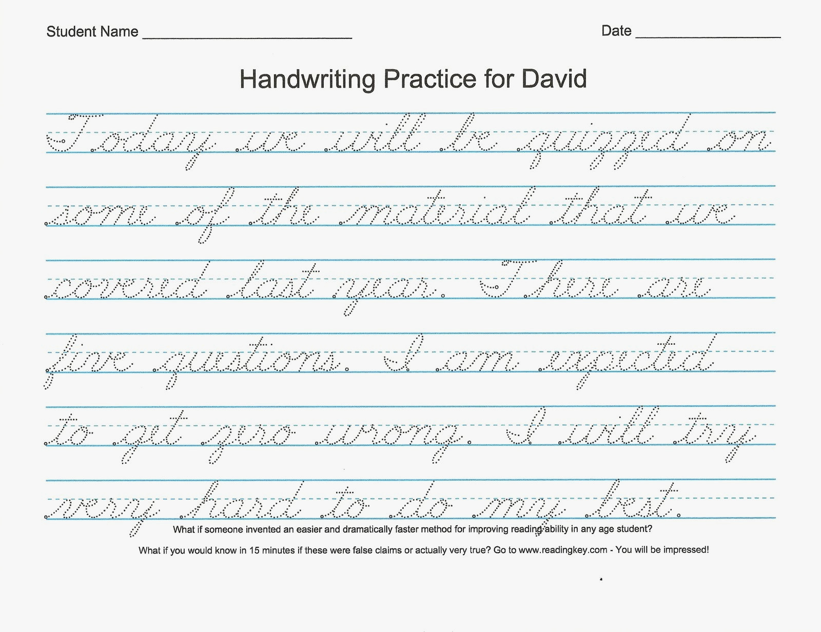 54 Unique Of Free Printable Cursive Handwriting Worksheets Pic | Free Printable Worksheets Handwriting Practice
