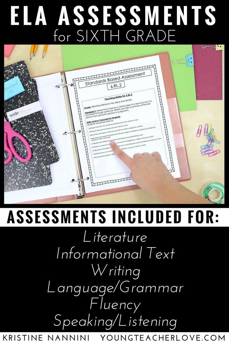 6Th Grade Ela Assessments Reading Comprehension - Grammar - Writing | Printable Worksheets For 6Th Grade Language Arts