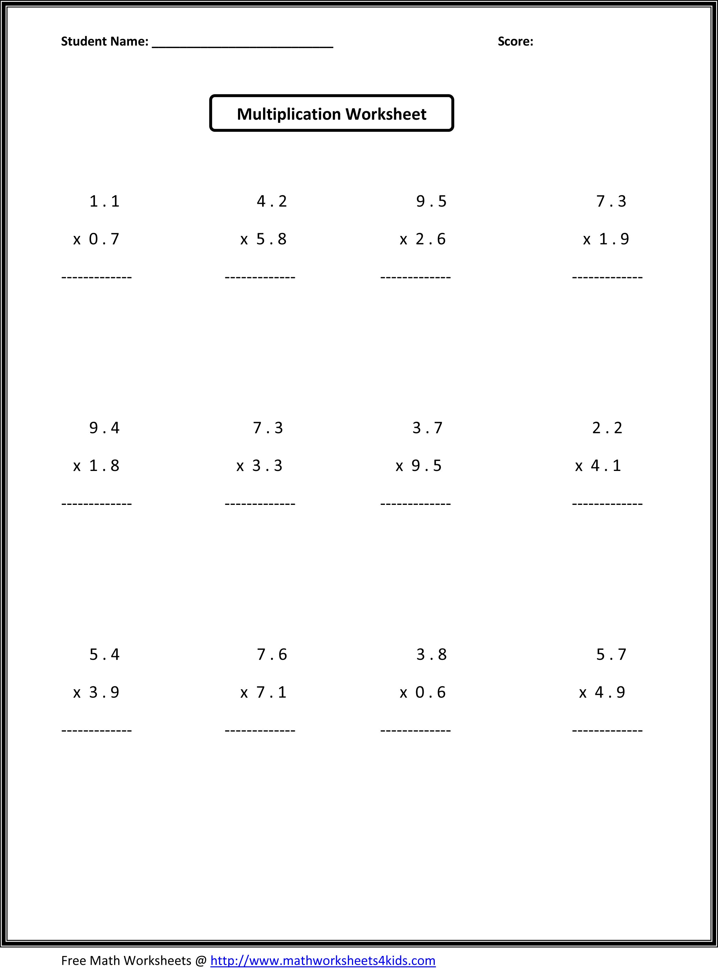 7Th Grade Math Worksheets | Value Worksheets Absolute Value | 7Th Grade Printable Worksheets