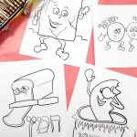 9 Passover Coloring Pages For Kids Printable Pdf Colouring | Etsy | Colouring Worksheets Printable Pdf