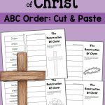 Abc Order Worksheet (Cut And Paste!): The Resurrection Of Christ | Religious Worksheets Printable