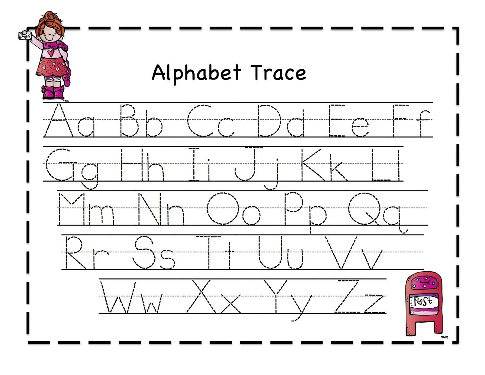 Abc Tracing Sheets For Preschool Kids | Kiddo Shelter | Alphabet And | Free Printable Preschool Worksheets