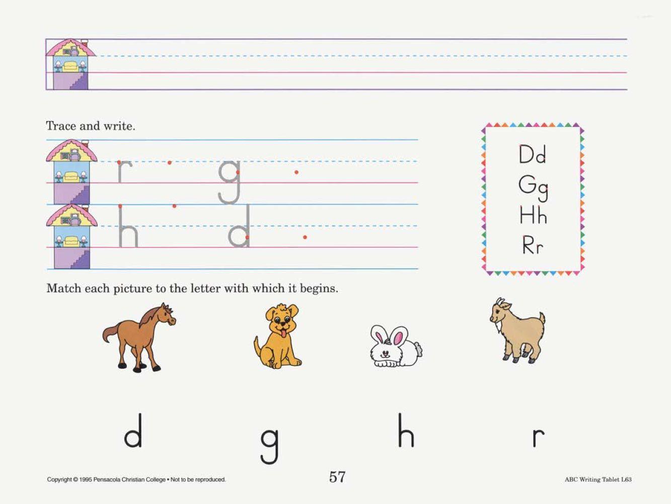 Abc Writing Tablet Manuscript | School | A Beka, Resume Writing | Abeka Printable Worksheets