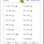 Adding And Subtracting Negative Numbers Worksheets | Positive And Negative Numbers Worksheets Printable
