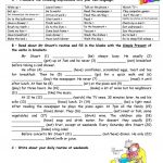 Adults' Daily Routine Worksheet   Free Esl Printable Worksheets Made | Printable Worksheets For Adults