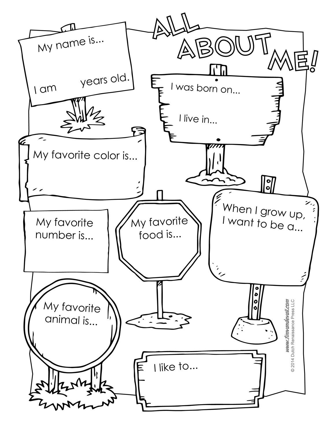 All About Me Free Workshet … | Social Emotional Learning | All A… | All About Me Printable Worksheets