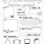 All About Me Worksheet   Free Esl Printable Worksheets Made | All About Me Worksheet Preschool Printable