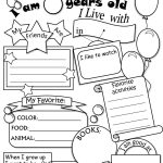 All About Me Worksheet Freebie   Cute! | Language Arts | All About | All About Me Printable Worksheets