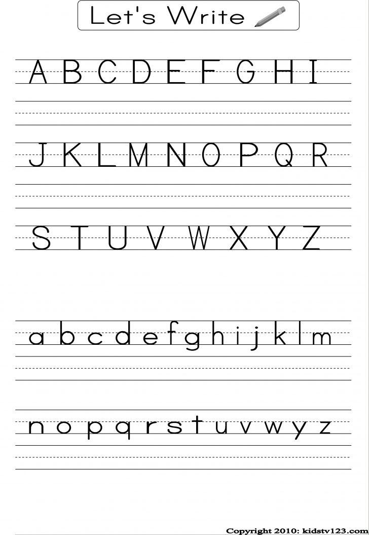Printable Alphabet Handwriting Worksheets
