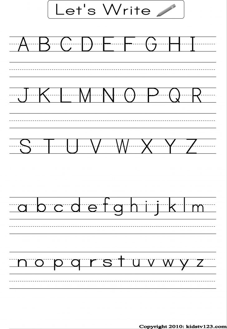 Printable Letter Worksheets For Preschoolers