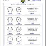 Analog Elapsed Time | Free Printable Elapsed Time Worksheets For Grade 3