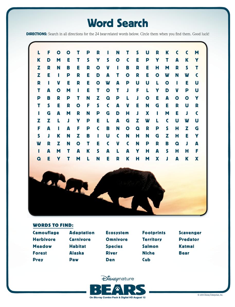 Animal Adaptations   Disney Bears   Video Worksheet   Science   Free Printable Worksheets Animal Adaptations