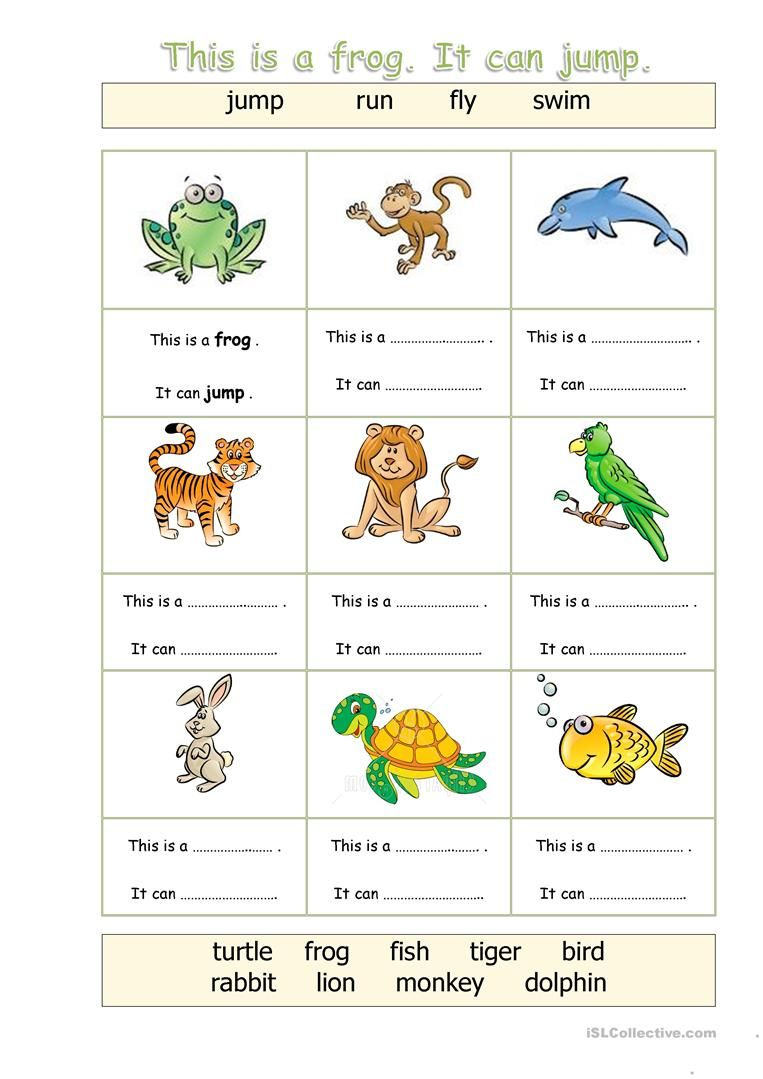 Animals - Can Worksheet - Free Esl Printable Worksheets Made | Los Animales Printable Worksheets