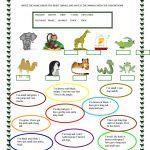 Animals | Free Esl Worksheets | Teachers Resources | Animal | Los Animales Printable Worksheets