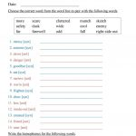 Antonyms, Synonyms, And Homophones Worksheet   Free Esl Printable | Free Printable Worksheets Synonyms Antonyms And Homonyms