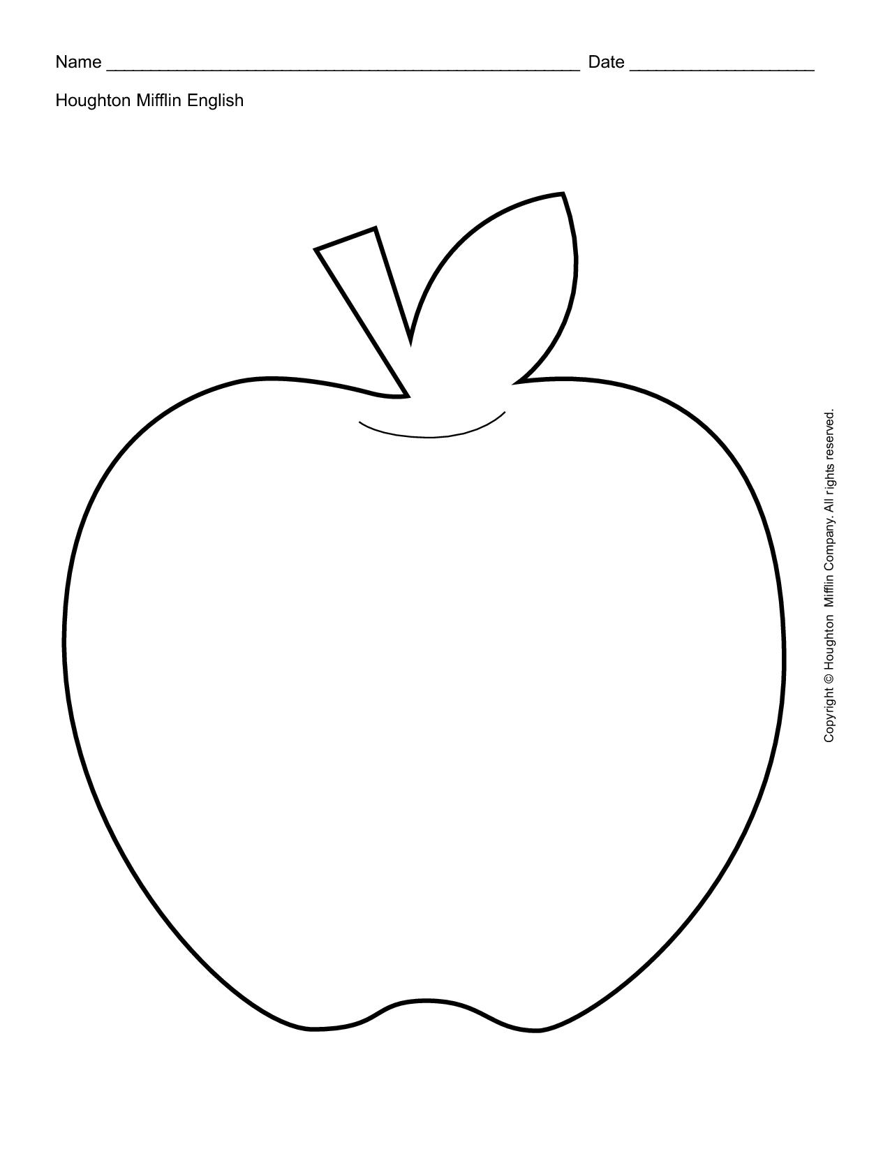 Apple Outline Printable Teacher Worksheet | Activities For Kids | A For Apple Worksheet Printable