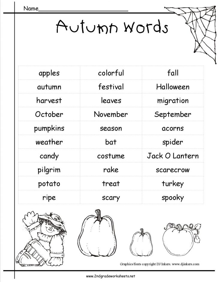 Printable Fall Worksheets