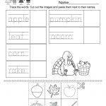 Autumn Worksheet   Free Kindergarten Seasonal Worksheet For Kids | Free Printable Fall Worksheets Kindergarten